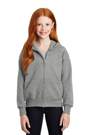 Hanes Youth Unisex EcoSmart Full-Zip Hooded Sweatshirt Tagless Hoodie P480
