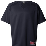 0705 Rawlings - Short Sleeve Flatback Mesh Fleece Pullover