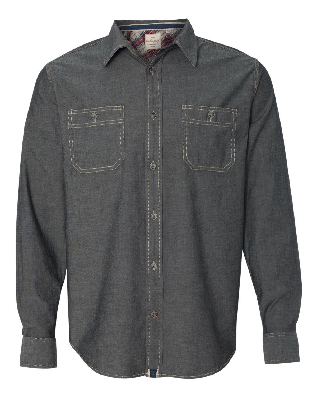 154885 Weatherproof Vintage Chambray Long Sleeve Shirt