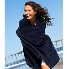 340T Towels Plus by Anvil Hemmed Mid-Weight Beach Towel