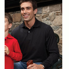 437ML JERZEES Adult Long-Sleeve Jersey Polo with SpotShield