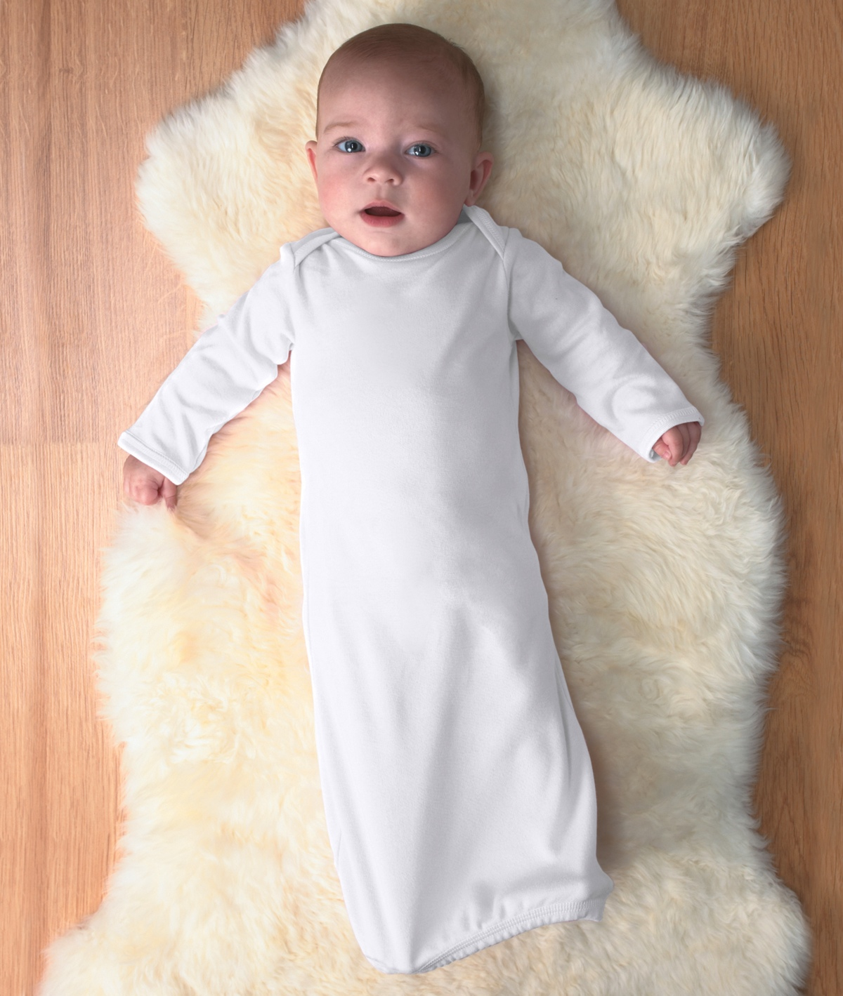 4406 Rabbit Skins Infant Baby Rib Lap Shoulder Layette