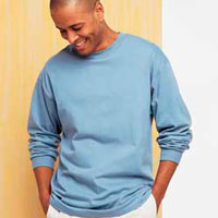 5186 Hanes Long Sleeve Beefy T-Shirt
