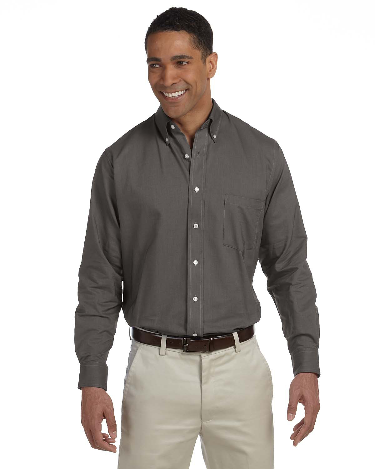 56800 Van Heusen Long Sleeve Wrinkle-Free Oxford - 57800-13v0040