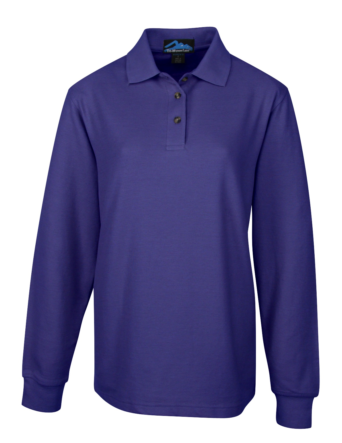 602 Victory Tri-Mountain Ladies Long Sleeve Polo