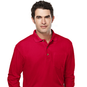 609 Tri-Mountain Spartan Long-sleeve POCKET polo
