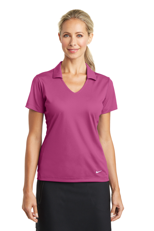 637165 Nike Golf Ladies Dri-FIT Vertical Mesh Polo