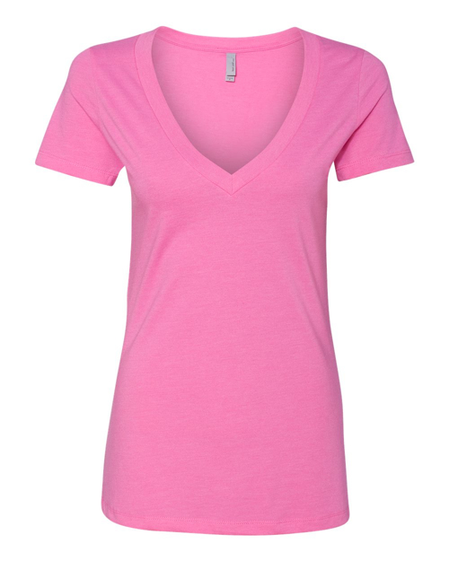 6640 Next Level - Women's CVC Deep V Tee