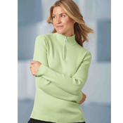 71001  Ash City Ladies Half Zip Mock Neck Sweater