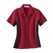 77016 Ash City Ladies Ottoman Color Block Camp Shirt