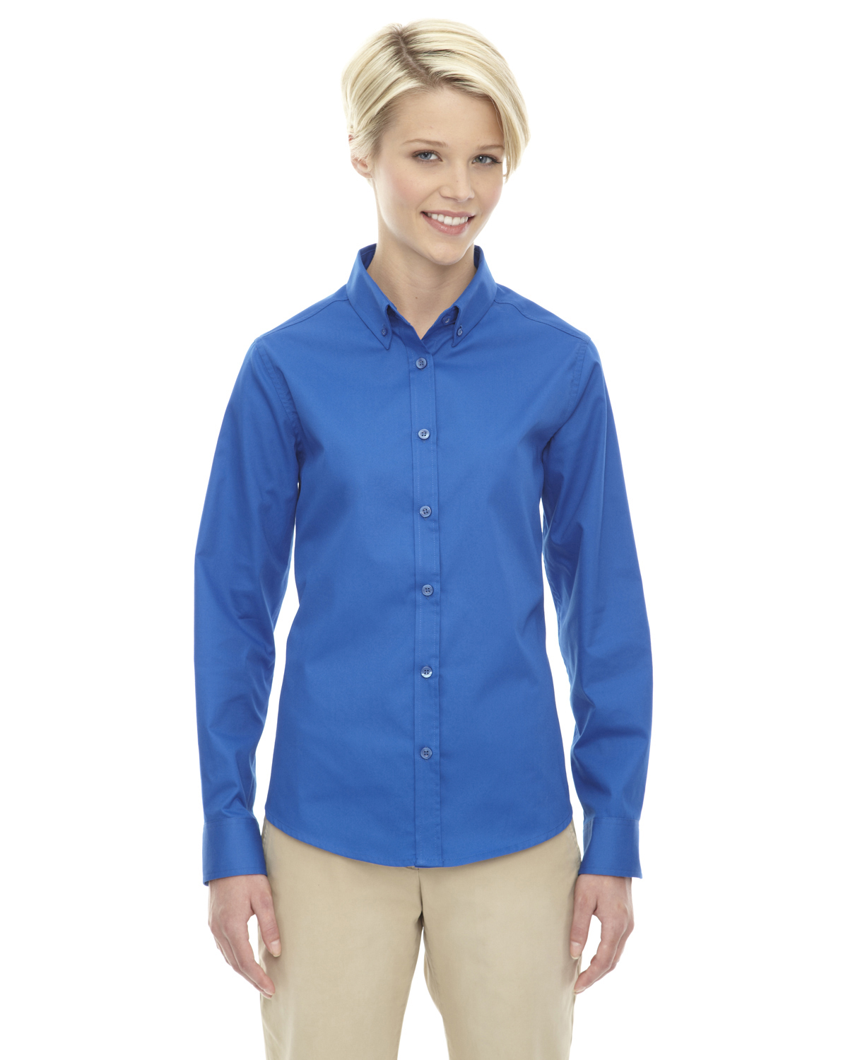78193 Ash City Core 365 Ladies' Operate Long-Sleeve Twill Shirt