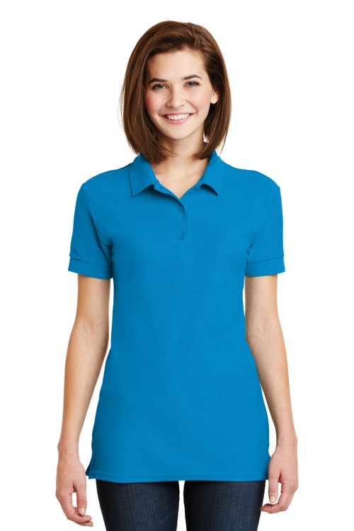 82800L Gildan® Ladies 6.5-Ounce 100% Double Pique Cotton Sport Shirt