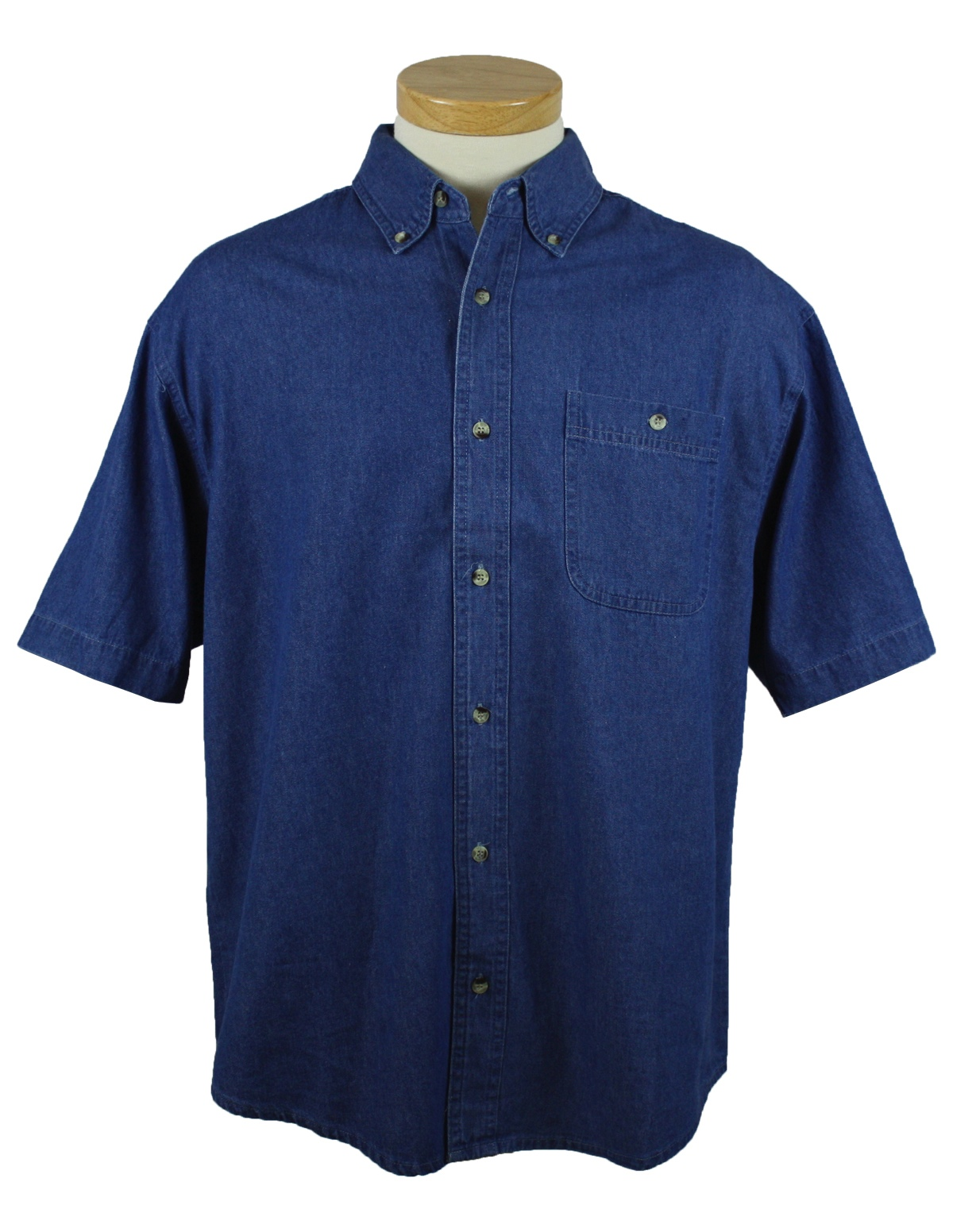 828 Tri-Mtn Short Sleeve Denim Shirt - TALL SIZES