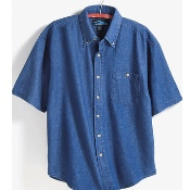 828 Tri-Mtn Short Sleeve Denim Shirt