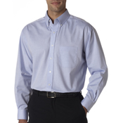 8360 UltraClub Men's Long-Sleeve Performance Pinpoint