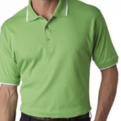 8503c Ultra Club Men's Egyptian Interlock Polo with Collar Tipping