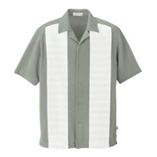87017 Ash City Mens Knit Ottoman Color Block Camp Shirt