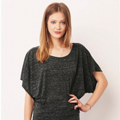 8821 Bella + Canvas - Women's Flowy Draped Sleeve Dolman Tee
