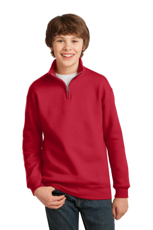 995Y Jerzees Youth 8 oz., 50/50 NuBlend® Quarter-Zip Cadet Collar Sweatshirt