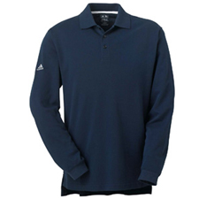 A86 Adidas ClimaLite Tour Pique Long-Sleeve Polo