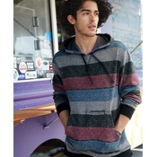 B8603 Burnside - Printed Striped Fleece Sweatshirt