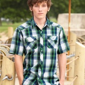 B9202 Burnside - Plaid Short Sleeve Shirt