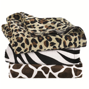 C3060A Carmel Towel Company - Animal Print Velour Beach Towel
