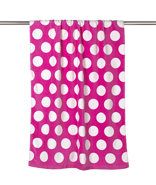 C3060P Carmel Towel Company - Polka Dot Velour Beach Towel