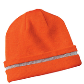 CS800 CornerStone® - Enhanced Visibility Beanie with Reflective Stripe.
