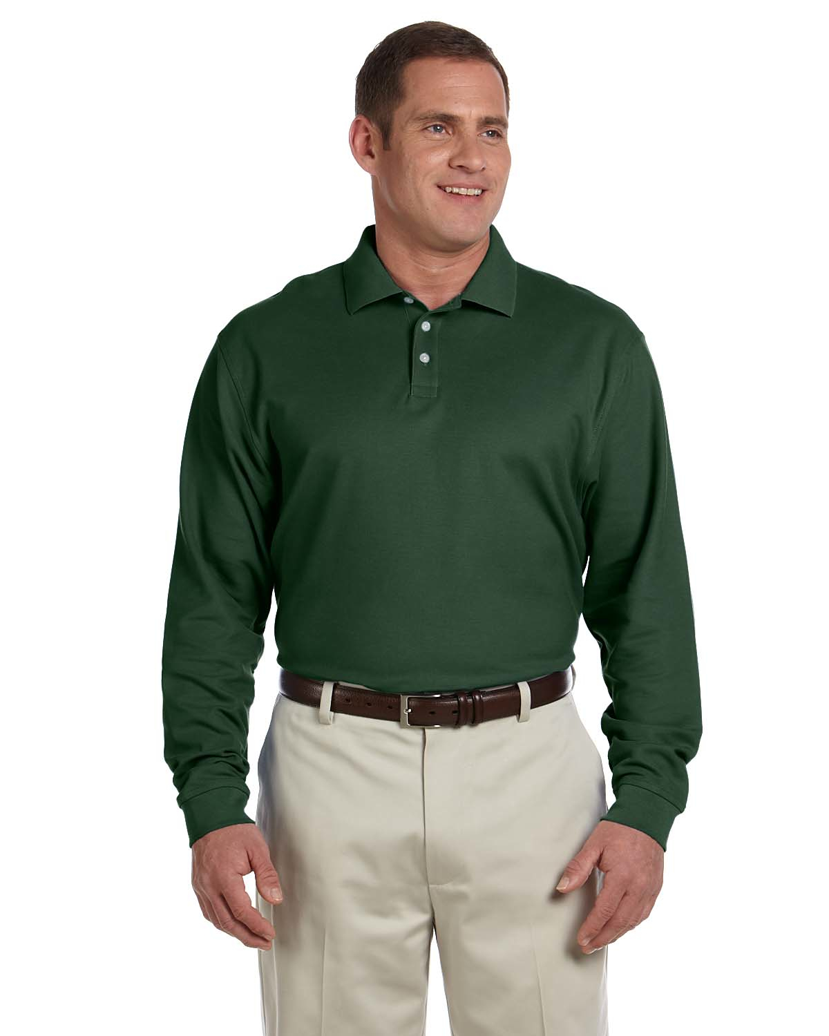 d110x Devon & Jones Men's Pima Piqué Long-Sleeve Polo 3xl-4xl