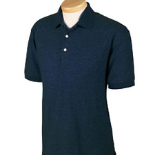 *CLOSEOUT*D153GR Devon & Jones Men's Recycled Pima Melange Pique Polo