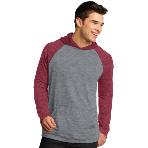 DT128 District® - Young Mens 50/50 Raglan Hoodie