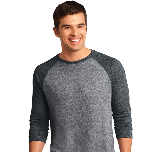 DT162 District Young Mens Microburn 3/4-Sleeve Raglan Tee