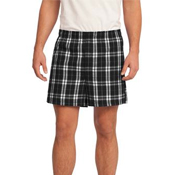 DT1801 District® - Young Mens Flannel Plaid Boxer