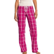 DT2800 District® Young Ladies Flannel Plaid Pant