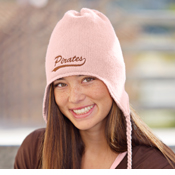 DT604 District Threads® - Knit Hat with Earflaps.