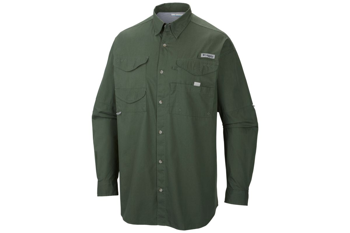 Embroidered fm7120 columbia long sleeve bonehead for Embroidered columbia fishing shirts