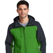 J335 Port Authority® Hooded Core Soft Shell Jacket
