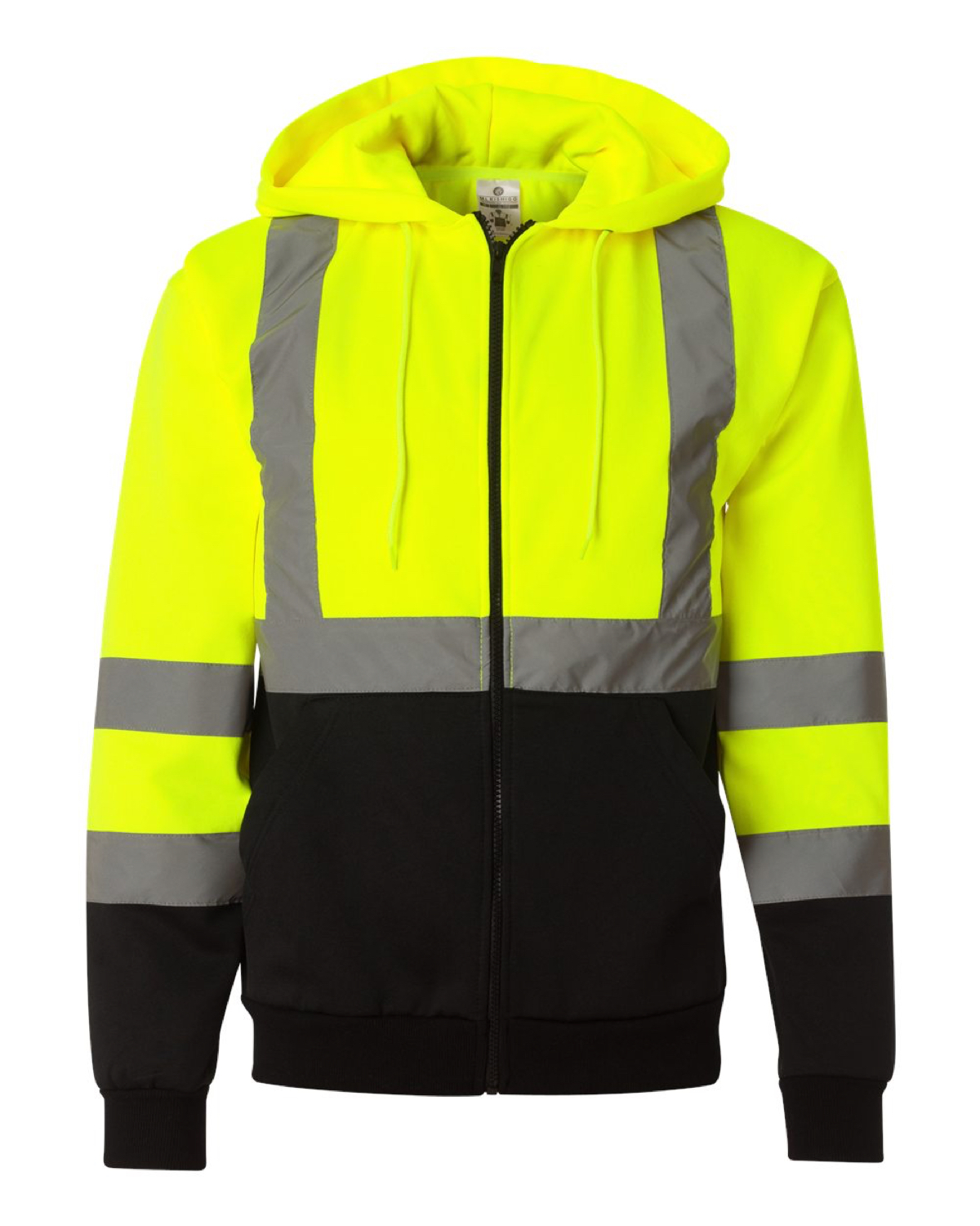 JS102-103 ML Kishigo - Hi-Vis Hooded Full-Zip Sweatshirt