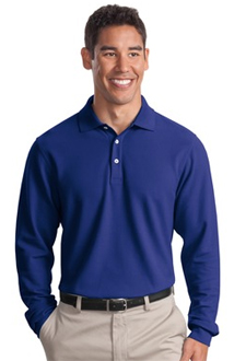 K800LS Port Authority® - Long Sleeve EZCotton™ Pique Polo