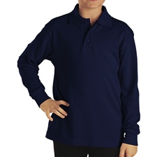KL4452 Dickies Boy's Long Sleeve Performance Polo