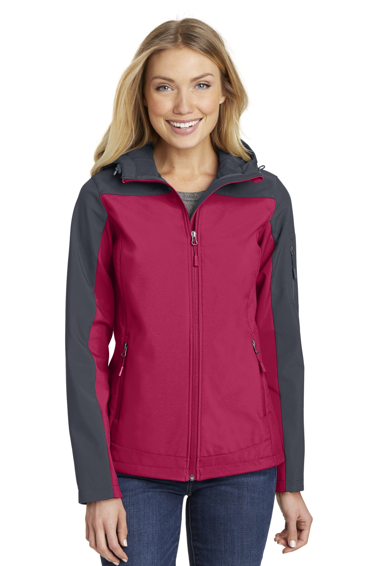 L335 Port Authority® Ladies Hooded Core Soft Shell Jacket