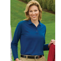 L500LS Port Authority Ladies Long sleeve Silk Touch Sportshirt