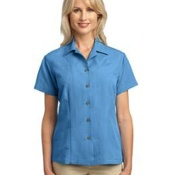 L536 Port Authority Ladies Patterned Easy Care Camp Shirt
