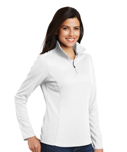 L806 Port Authority Ladies Pinpoint Mesh 1/2-Zip