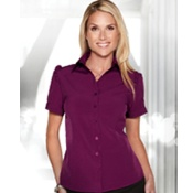 LB752 Lily Tri-Mountain Ladies Short Sleeve Woven Shirt