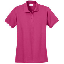 LKP150 Port & Company Ladies Ring Spun Pique Polo.