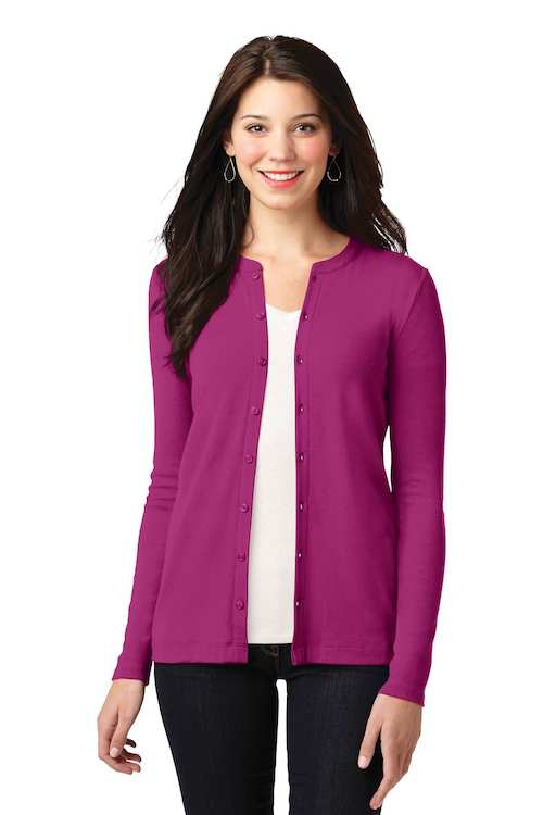 LM1008 Port Authority Ladies Concept Stretch Button Front Cardigan