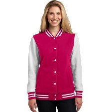 LST270 Sport-Tek Ladies Fleece Letterman Jacket