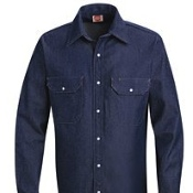 SD78 Red Kap - Deluxe Denim Shirt